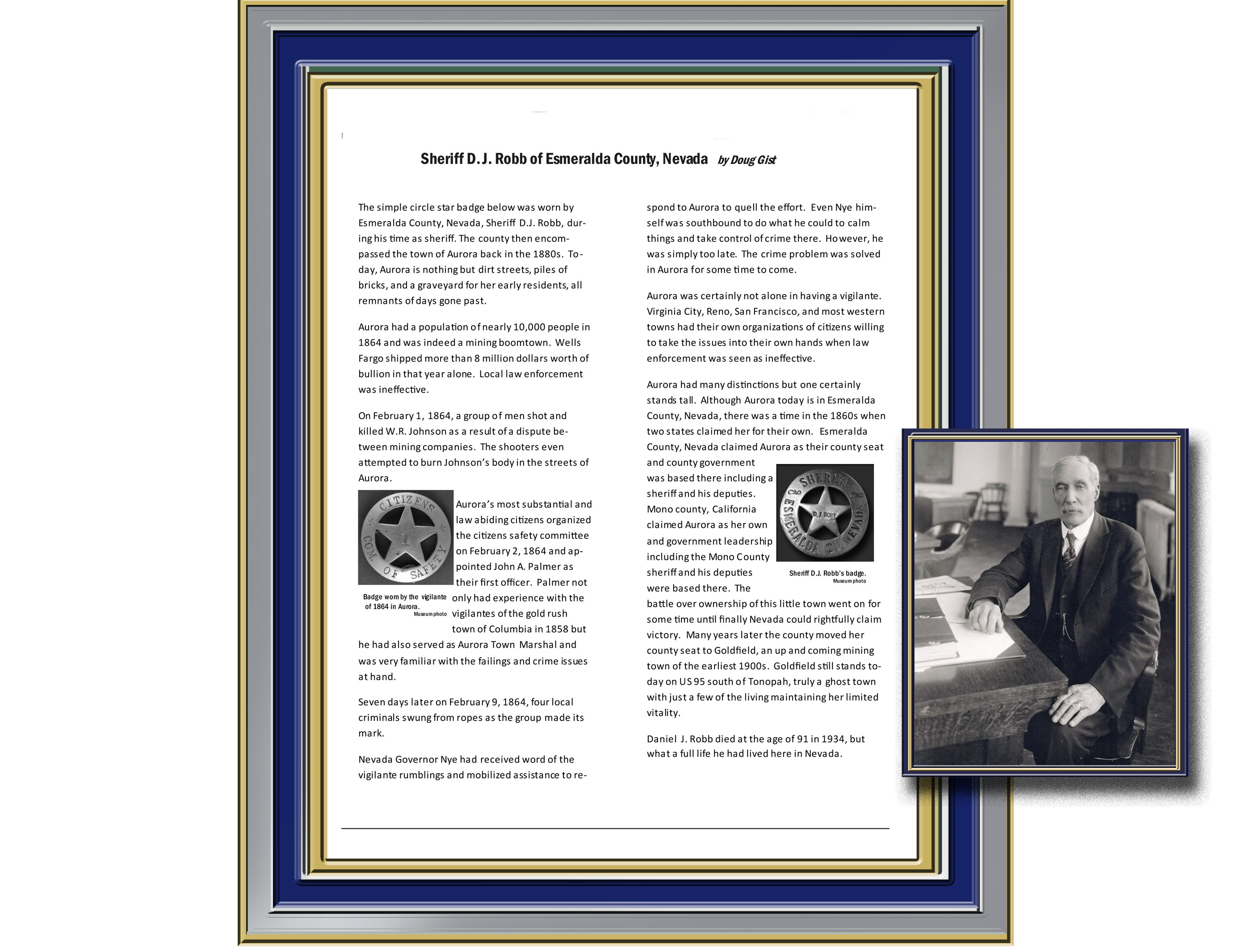 Nevada Law Enforcement History – The American Peace Officer
